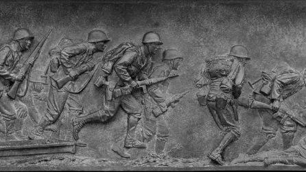 Bas relief at the World War II Memorial, Washington, D.C.